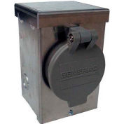 Generac 6346 30-A 125/250V Aluminum Power Inlet Box W/Spring Loaded Flip Lid