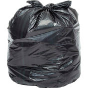 Global™ Heavy Duty Black Trash Bags - 33 Gallon, 1.0 Mil, 100/Case