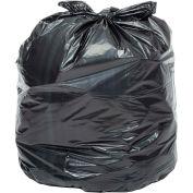 Global Industrial™ Heavy Duty Black Trash Bags - 40 to 45 Gallon, 1.0 Mil, 100/Case
