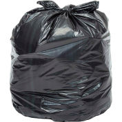 Global™ 2X Heavy Duty Black Trash Bags - 40 to 45 Gallon, 1.7 Mil, 100/Case