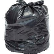 Global™ Heavy Duty Black Trash Bags - 55 Gallon, 1.0 Mil, 100/Case