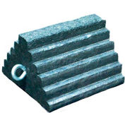 Rumber® 4121-8 Lifetime Recycled Rubber Wheel Chock with Eye Bolt