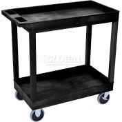 Luxor® EC11HD E-Series Black 2-Shelf Tub Cart 35-1/4 x 18 500 Lb. Cap.