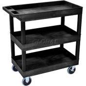 Luxor® EC111HD E-Series Black 3-Shelf Tub Cart 35-1/4 x 18 500 Lb. Cap.