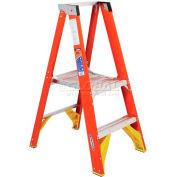 Werner 2' Fiberglass Platform Step Ladder 300 lb. Cap - P6202