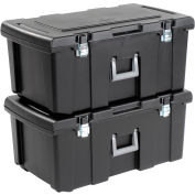 Footlocker Wheeled Storage Tote 22 Gallon 31-1/8x17-1/2x13-7/8 - Pkg Qty 2