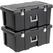 Footlocker Wheeled Storage Tote 22 Gallon 31-1/8x17-1/2x13-7/8 - Pkg Qty 2