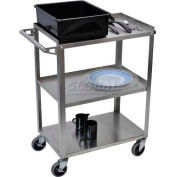 Luxor® SSC-3 Stainless Steel Cart 28-1/4 x 16 x 34-1/4 300 Lb. Capacity
