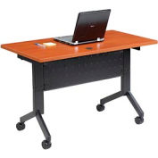 "Interion™ - Training Table, Flip-Top 48""L Cherry Finish Top"