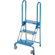 "3 Step 7"" Deep Top Step Lock-N-Stock Folding Aluminum Ladder - ALS3247"