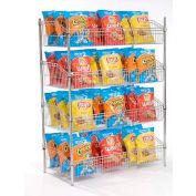 """Nexel - Wire Shelf Basket 36""""W x 24""""D x 63""""H"""