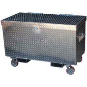"""Vestil Aluminum Treadplate Tool Box APTS-3648-CF - w/Casters & Fork Pockets, 48""""x24""""x36"""""""