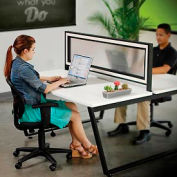 Translucent Partition for Double Open Office Desk (694860)