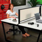 Interion® Fabric Divider Partition for Double Collaboration Desk