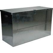 Vestil Aluminum Treadplate Tool Box APTS-3660-FD - w/Drop Gate, 60x24x36