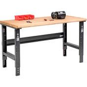 Global Industrial™ 60 x 30 Adjustable Height Workbench C-Channel Leg - Ash Safety Edge - Black