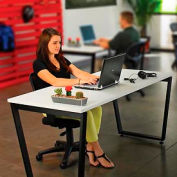 """Interion® Collaboration Table - Single - 60""""W x 30""""D x 30""""H - Gray"""