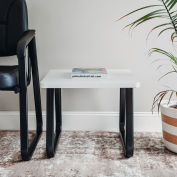 """Square Coffee Table 20"""" x 20"""" Gray Top"""
