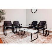 "Rectangle Coffee Table 43"" x 20"" Gray Top"