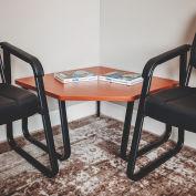 "Interion™ Corner Coffee Table 29-1/2"" x 29-1/2"" Cherry Top"
