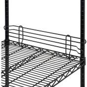 "Ledge 18""L x 4""H for Wire Shelves - Black Epoxy"