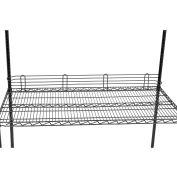 """Nexel® Black Epoxy Wire Ledge 48""""L x 4""""H"""
