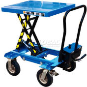 Vestil Pneumatic Tire Double-Scissor Elevating Cart CART-PN-600-D 600 Lb.