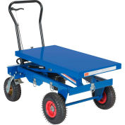 Vestil Pneumatic Tire Hydraulic Elevating Cart CART-PN-1500 1500 Lb. Cap.