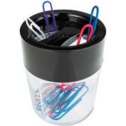 Universal Magnetic Clip Dispenser, Two Compartments, Plastic, 2-1/2 x 2-1/2 x 3