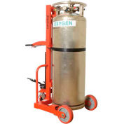 Wesco® Hydraulic Lift Liquid Cylinder Cart with Hand Brake 240251 1000 Lb.