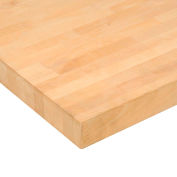 "96""W x 30""D x 1-3/4"" Thick, Birch Butcher Block Square Edge Workbench Top"