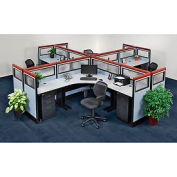 Pre-Configured Office Partitions & Cubicles, 4 Person