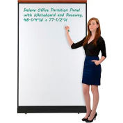 "Deluxe Office Partition Panel with Whiteboard and Raceway, 48-1/4""W x 77-1/2""H"