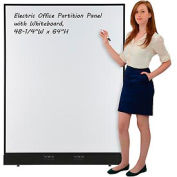 "Electric Office Partition Panel with Whiteboard, 48-1/4""W x 64""H"