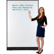"""Electric Office Partition Panel with Whiteboard, 48-1/4""""W x 76""""H"""