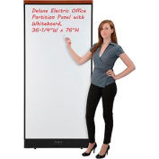 "Deluxe Electric Office Partition Panel with Whiteboard, 36-1/4""W x 77-1/2""H"