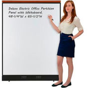 """Deluxe Electric Office Partition Panel with Whiteboard, 48-1/4""""W x 65-1/2""""H"""