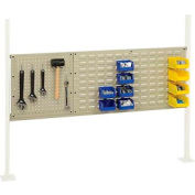 "Panel Kit for 60""W Workbench with 18""W Pegboard and 36""W Louver, Mounting Rail -Tan"