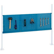 "Mounting Kit with 18""W and 36""W Pegboards for 60""W Workbench -Blue"