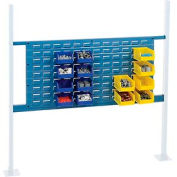 "Mounting Kit with 36""W Louver for 48""W Workbench -Blue"