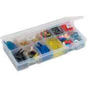 "Plano StowAway® 6-12 Adjustable Compartment Box, 8-1/4""Lx 4-1/4""W x 1-3/8""H, Clear - Pkg Qty 6"