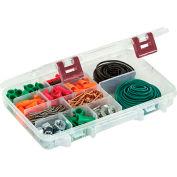 """Plano ProLatch™ StowAway® 6-21 Adjustable Compartment Box,11""""L x 7-1/4""""W x 1-3/4""""H, Clear - Pkg Qty 3"""