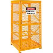 Cylinder Storage Cabinet Single Door Horizontal, 8 Cylinder Capacity, Assembled