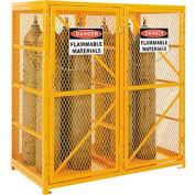 Cylinder Storage Cabinet Double Door Vertical, 18 Cylinder Capacity, Assembled