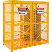 Cylinder Storage Cabinet 2 Door Combo,8 Horizontal/9 Cylinder Capacity,Assembled