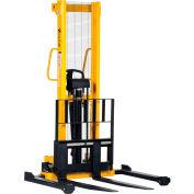 Vestil Hand Pump Stacker VHPS-2000-AA 2000 Lb. Cap. Adjustable Forks & Legs