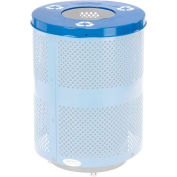 Global Industrial™ Flat Lid - 36 Gallon Blue w/ Recycle Logos