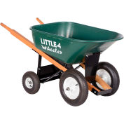 Vestil 4-Wheel Plastic Nursery Wheelbarrow WLB4-300 6 Cu. Ft. 300 Lb. Capacity
