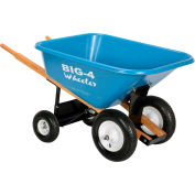 Vestil 4-Wheel Plastic Nursery Wheelbarrow WLB4-400 8 Cu. Ft. 400 Lb. Capacity