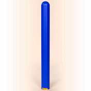 "Eagle Ribbed Bollard Post Sleeve 6"" Blue, 1730BLUE"